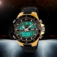 Men Led Waterproof Multifunction Analog-Digital Sport Military Wrist Watch = 1706197572