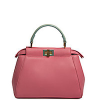 Fendi - Peekaboo Mini Two-Tone Leather Satchel - Saks Fifth Avenue Mobile