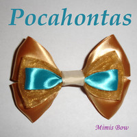 Pocahontas Inspired Disney Bow