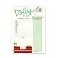 Daily Planner Piano Theme Notepad [The Little Red House]