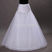 2016 New Arrives 100% High Quality A Line 1-hoop 2-layer Tulle Wedding Bridal Petticoat Underskirt Crinolines for Wedding Dress
