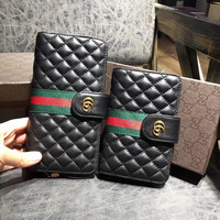 GUCCI Leather wallet with Double G
