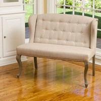Stephanie Beige Loveseat