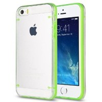Pandamimi ULAK(TM) Ultra-Thin Clear Hard Case For Apple iPhone 5S 5 with Screen Protector and Stylus (Green)