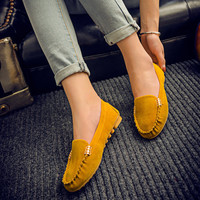 Women casual shoes fashion summer slip on candy color women flat