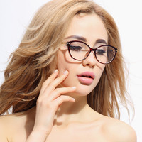 Fashion TR 90 Cat Eyes Stylish Optical Glasses Frame for Women
