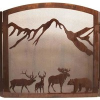 """""""Wildlife Collage"""" Fireplace Screen - Free Ground Shipping"""