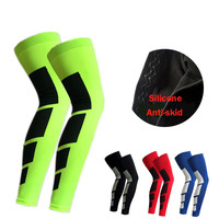 1PCS Pro Sports Silicone Antiskid Long Knee Support Brace Pad Protector Sport Basketball Leg Sleeve Sports Kneepad 5 Colors
