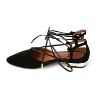 Ankle Tie Flats