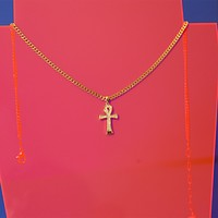 Medium Shining Ankh Necklace