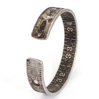 Handmade Vintage Stanley Ruler Bangle by jacqvon on Etsy