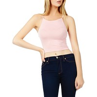 Stretchy Solid Cropped Tank Top (CLEARANCE)