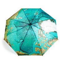 Automatic blue map umbrella sunshade umbrella