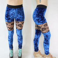 Crushed Velvet Late Night Leggings