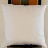 """White Pure Linen Pillowcases - Decorative Pillow Covers in White Linen - Throw Pillow Cover with Zipper - Toss Pillows - Cushion Cover - Gift for Wedding, Housewarming, Holiday Season (12"""" x 12"""")"""