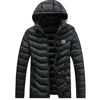 Boys & Men Moncler Fashion Casual Cardigan Jacket Coat Hoodie