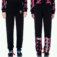 OFF WHITE Woman Men Casual Running Pants Trousers Sweatpants