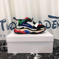 DCCK Balenciaga Triple-s  Men Casual Shoes Boots fashionable casual leather