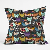 Sharon Turner Cincinnati Chickens Throw Pillow