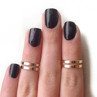 Love Double Knuckle Rings - set of 2