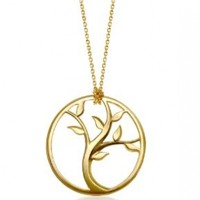 "Alex Woo ""Tree of Life"" Pendant, 18"""