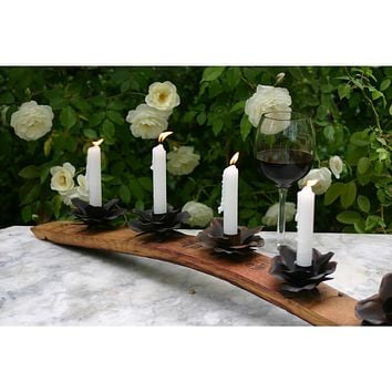 WB Wine Stave Candle Holder 5 Flower