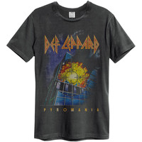 Def Leppard Men's  Pyro Slim Fit T-shirt Black Rockabilia