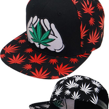 * Marihuana Reflect Snapback In Black/Red