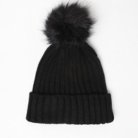 Kendall and Kylie Faux Fur Pom Beanie at PacSun.com