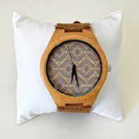 Wood Watch - Miami Face. Engraving Option!