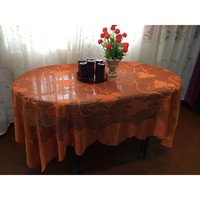 1pc Tablecloth Pumpkin Pattern Autumn Lace Maple Leaves High Quality Durable Table Cover for Halloween Thanksgiving Day Party