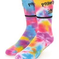 Primitive Cultivated Tie Dye Rainbow Socks