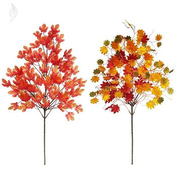 Artificial Leaves Maple Leaves Shopping Mall Decoration Thanksgiving Day Beauty Chen Supplies Sen Wedding Decoration Autumn Fake Leaves