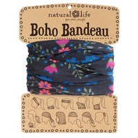 Black  with  Green  Ivy  Boho  Bandeau  From  Natural  Life