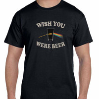 Wish You Were Beer Pink Floyd Mens T Shirt