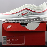 DCCK2 N431 Nike Air Max 97 Bullet Series Full Palm Air Cushion Sports Casual Running Shoes White Red