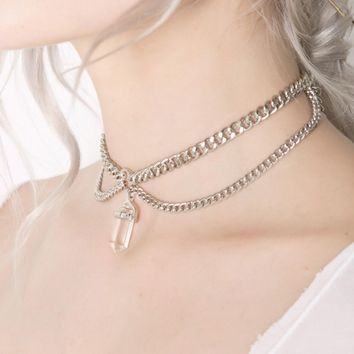 Glass Amulet Choker