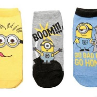 Despicable Me 2 Boom! Minions Youth Socks - 3 Pack:Amazon:Clothing