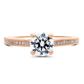 Rose Gold Plated Sterling Silver Round CZ Solitaire Ring 1.18 CTWBe the first to write a reviewSKU# r821-02