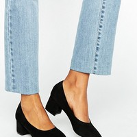 Daisy Street Black Mid Heeled Shoes at asos.com