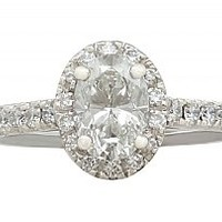 1.42 ct Diamond and 18 ct White Gold Dress Ring - Contemporary Circa 2000