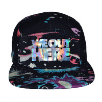 We Out Here Hats - Hologram