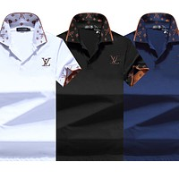 LV new embroidered letter POLO shirt half-sleeved T-shirt