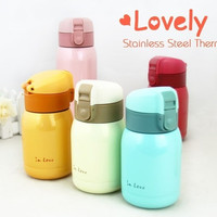 Stainless Steel Vacuum Bottle Coffee Cup Student Lovers Travel Insulated Container Office In Love Water Bottle 180ml/360ml
