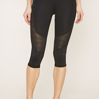 Active Contrast Capri Leggings | Forever 21 - 2000185578