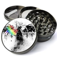 Eagle With Prism Deluxe Metal 5 Piece Herb Grinder With Fine Screen - Cheap Grinders You Can Customize