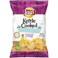Lay's® Kettle Cooked Potato Chips, Lightly Salted with Olive Oil & Herbs, 8 oz. Bag - Walmart.com