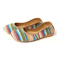 New Fashion Women Shoes, Old Beijing Flats Portable Casual Cloth Shoes, Ethnic Totem Foldable Ballet Shoes Woman Size 35-41