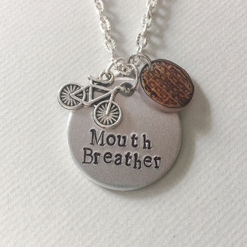 Stranger Things Necklace, Mouth Breather, eleven necklace, stranger things jewelry, ell and mike necklace, stranger things