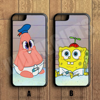 patrick and spongebob Couple Case,Custom Case,iPhone 6+/6/5/5S/5C/4S/4